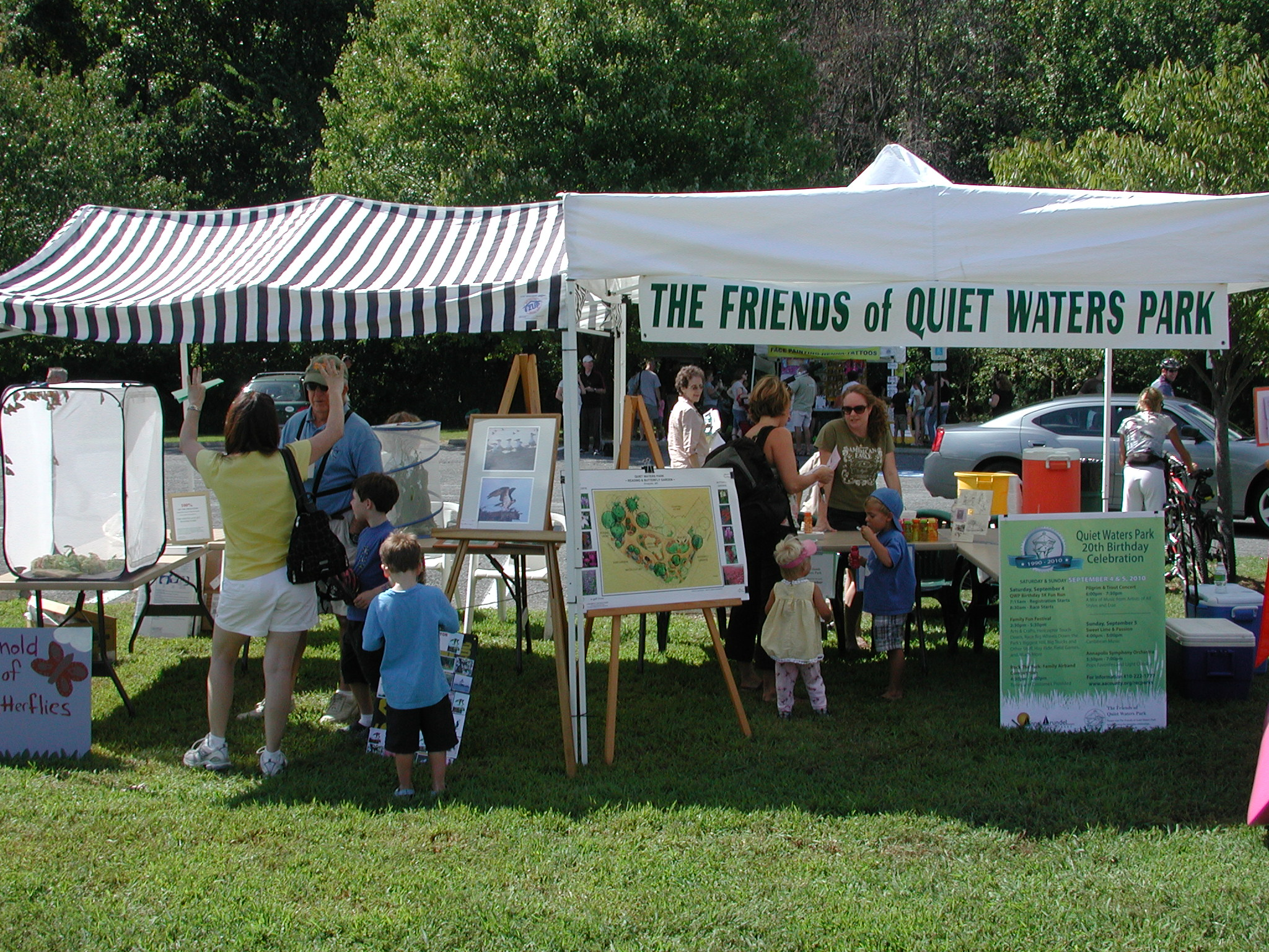 Visit the Friends Tent to learn more about becoming a member